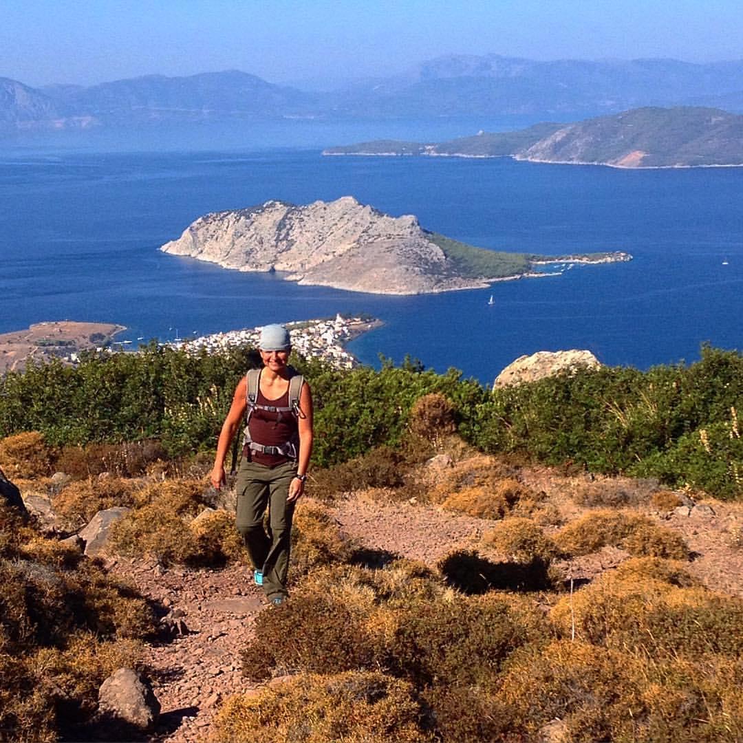 Walking on Aegina, Greece