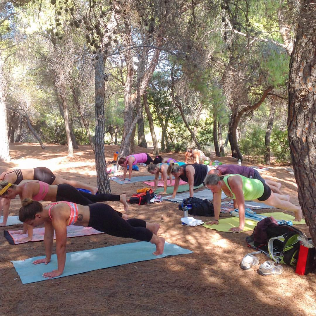Push Ups at the Temple of Afaia, Greece