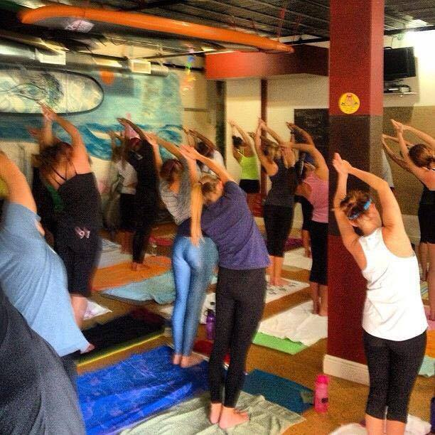 Packed Class at Yoga Energy